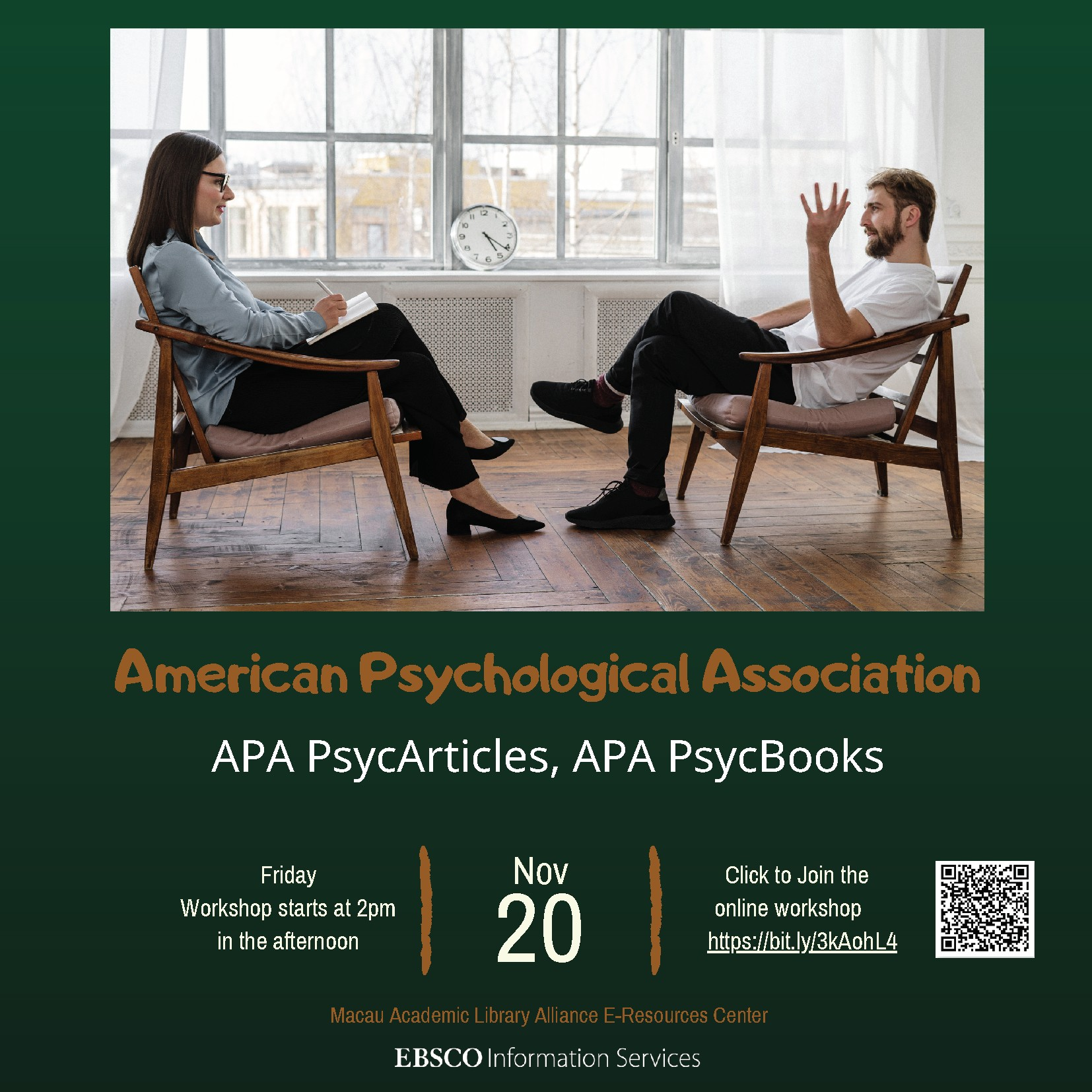 EBSCO Databases Online Training Sessions - APA PsycArticles, APA PsycBooks (English Session)