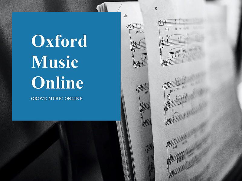 Oxford Music Online Training Workshop 牛津音樂線上資料庫培訓工作坊