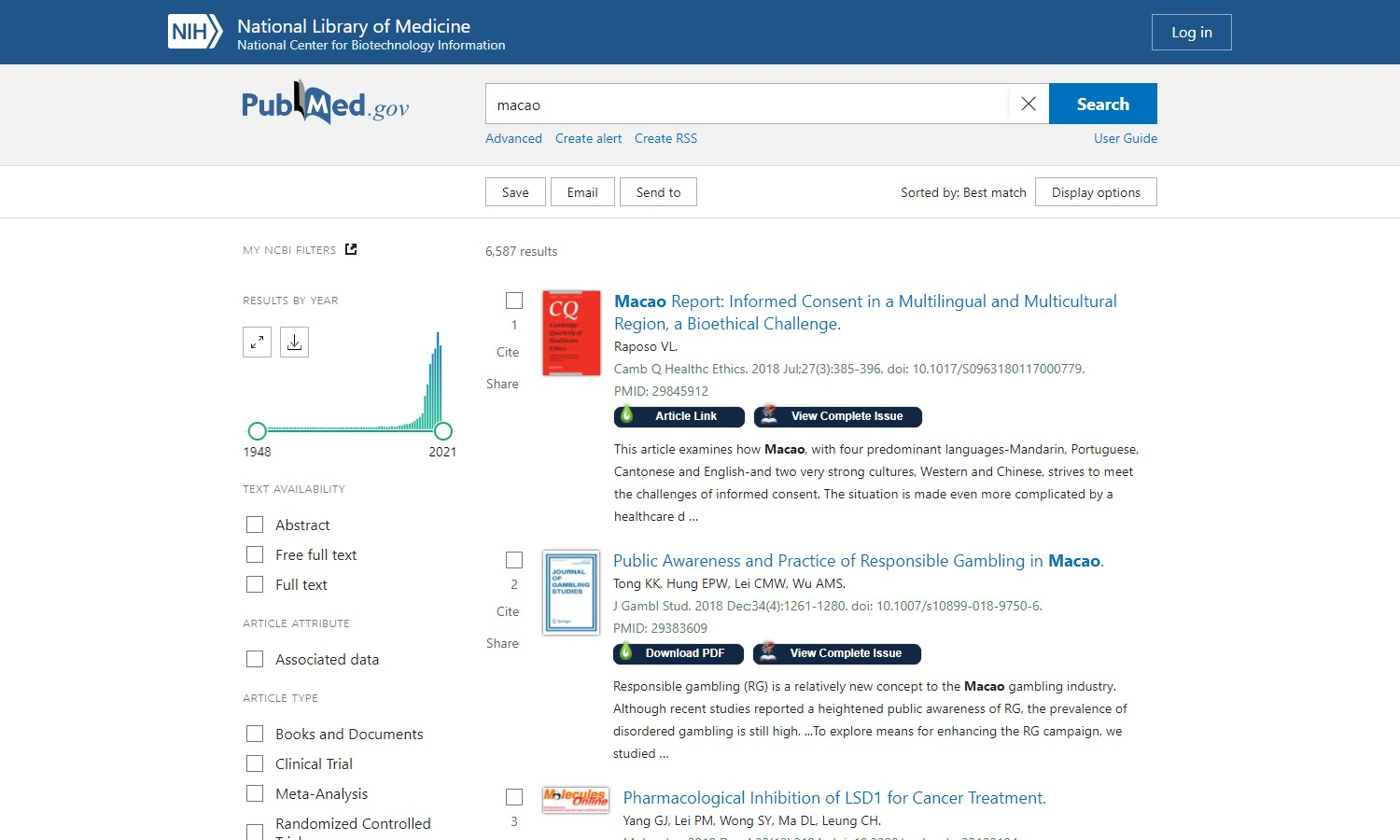 LibKey Nomad Working with PubMed